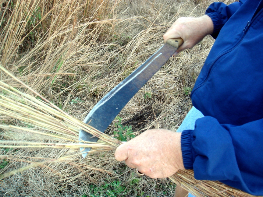 grass broom, step 1