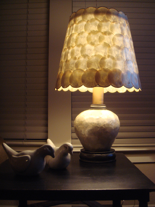 Lamp with original shell shade