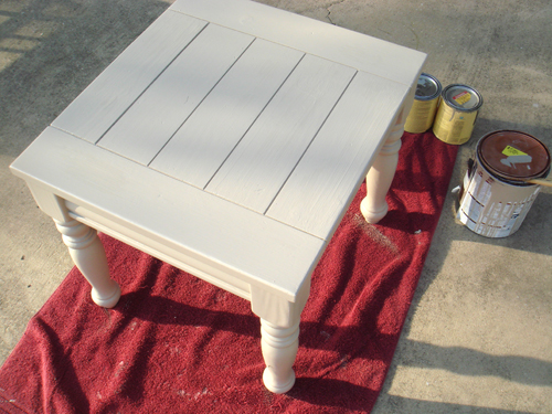 Side Table - w/ paint