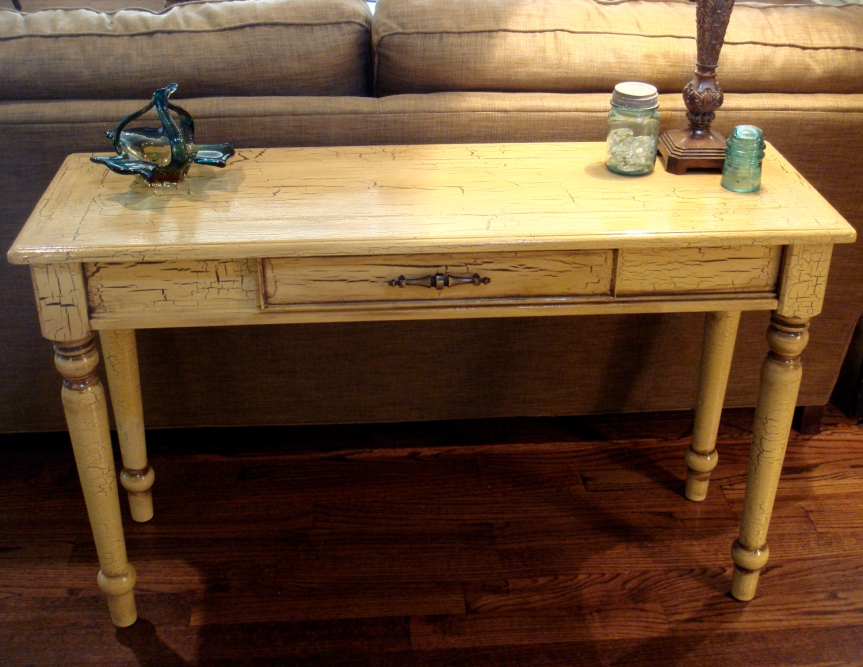 Sofa table - AFTER