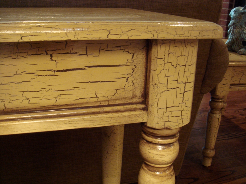 Sofa table close-up