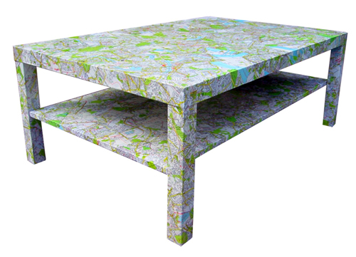 Bombus '50s London decoupage table