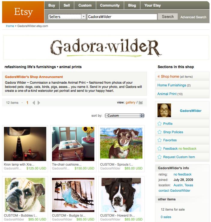 Etsy Seller: GadoraWilder