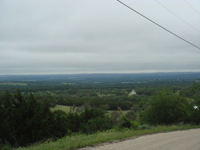 Overlooking the hill country