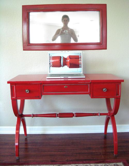 Vanity with mirror...