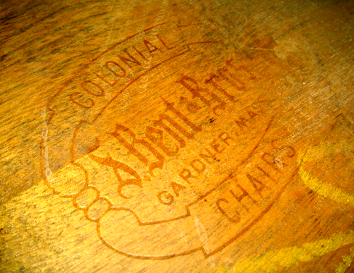 S.Bent Bros logo underneath chairs