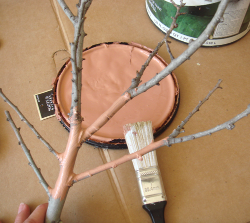 painting twigs...