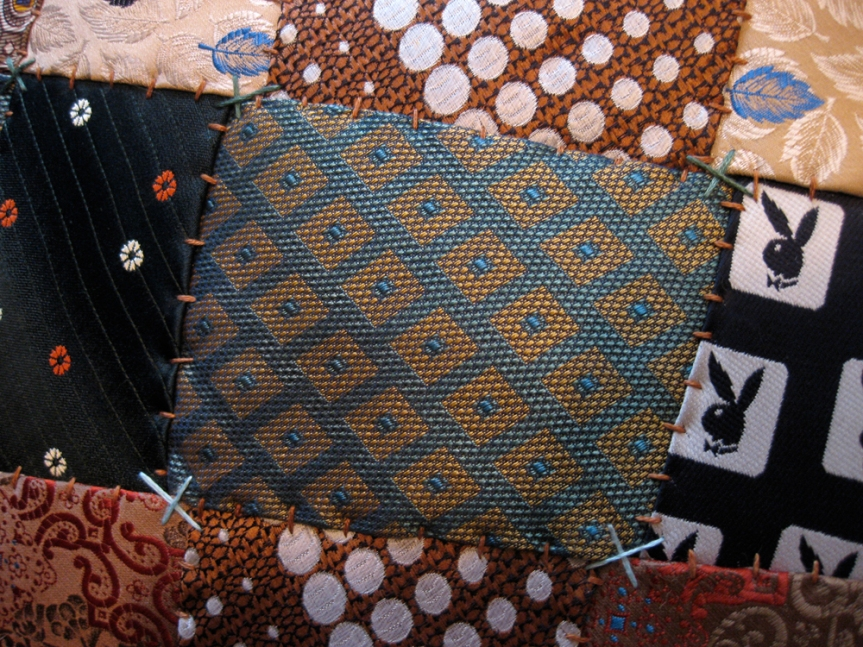 closeup of patchwork