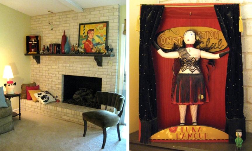 Living Room and La Luna shadowbox