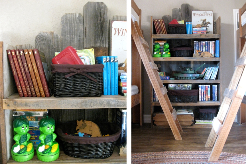 Toy shelf and bunks