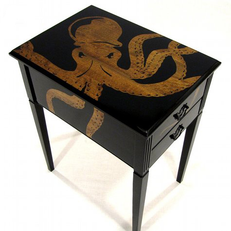 Will Means Octopus table on DesignSponge