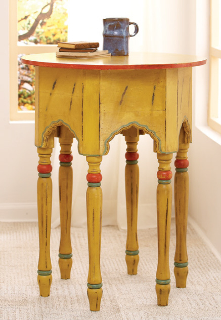 Yellow side-table