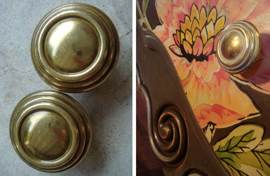Drawer pulls ~ BEFORE and AFTER