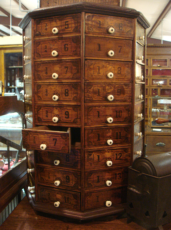 72-drawer hardware cabinet - Round Top Antique Roundup…