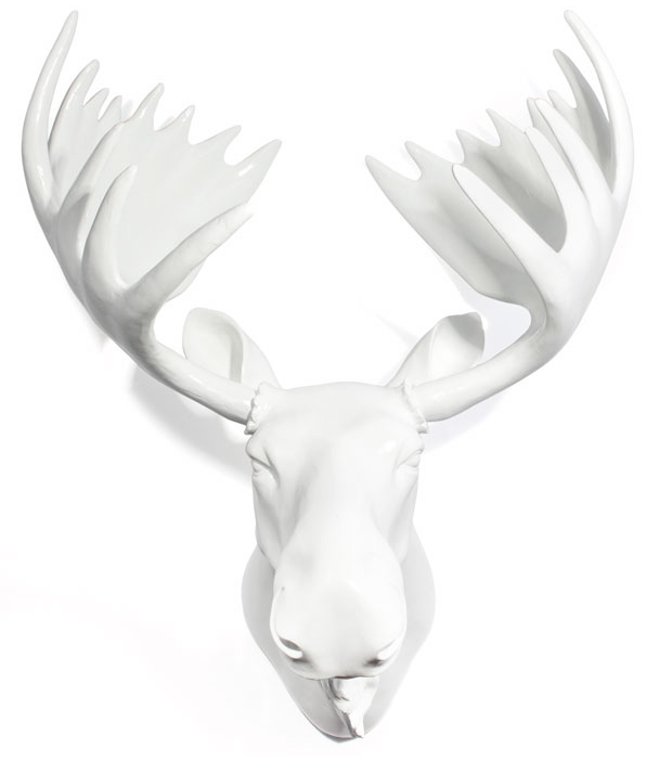 Glossy resin moose