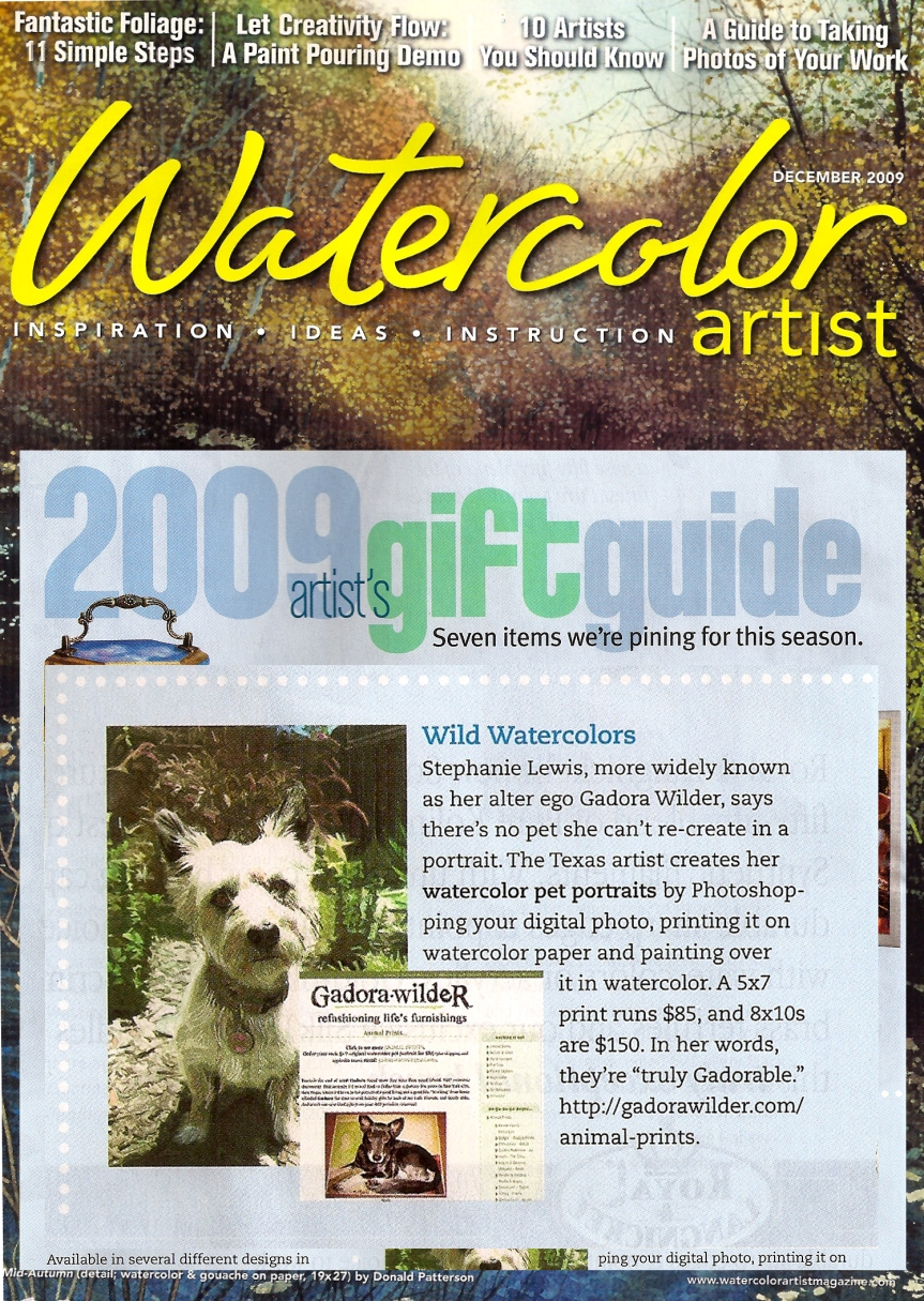 Watercolor Artist holiday issue