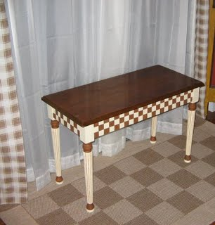 Checkered piano bench
