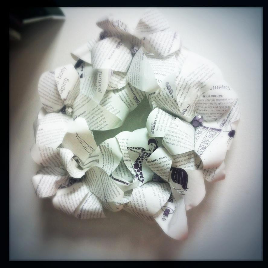 Paper wreath...
