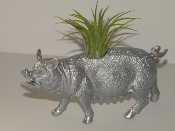 Silver planter from BloominHappy2009, $10.